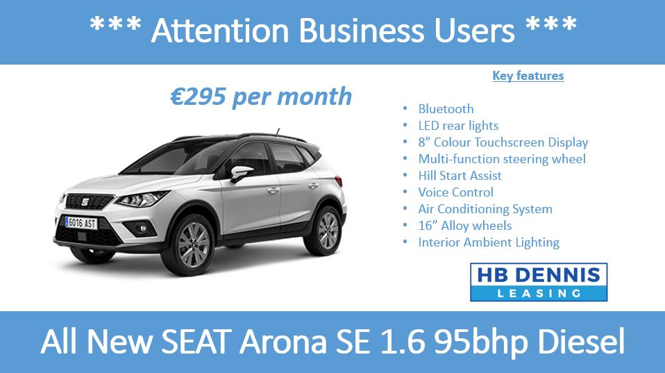 Special Offer All New Seat Arona Hb Dennis Leasing